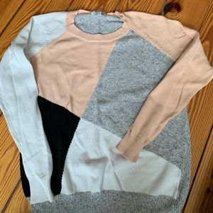 Madewell Color Block Sweater